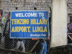 "Tenzing Hillary Airport, dubbed the ""World's Most Dangerous"" is the most common starting point for the Everest Base Camp trek.  In Lukla, Nepal."